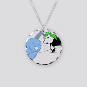 Dani the Unicorn and Neil the Narwhal Necklace Cir