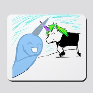 Dani the Unicorn and Neil the Narwhal Mousepad