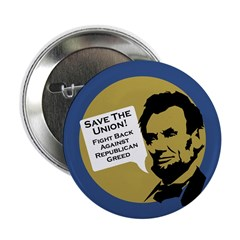 Save the Union Abraham Lincoln button