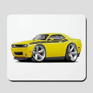 Challenger RT Yellow-Black Car Mousepad