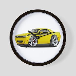 Challenger RT Yellow-Black Car Wall Clock