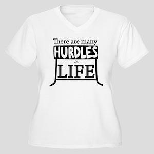 Hurdles Women's Plus Size V-Neck T-Shirt