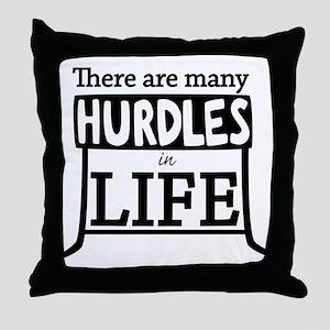 Hurdles Throw Pillow
