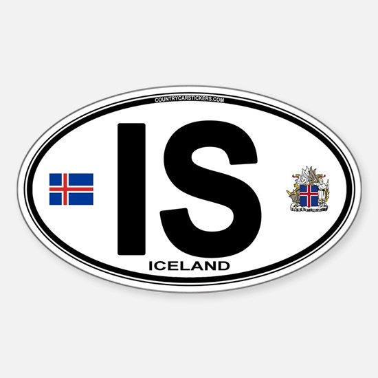 Iceland Euro Oval Sticker (Oval)