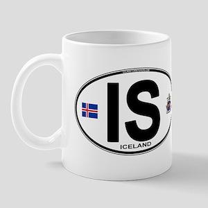 Iceland Euro Oval Mug