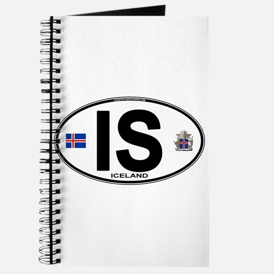 Iceland Euro Oval Journal