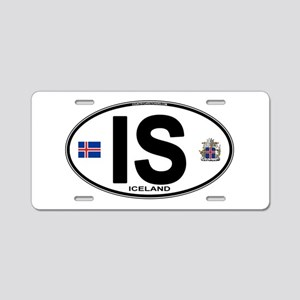 Iceland Euro Oval Aluminum License Plate