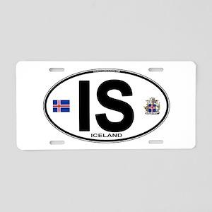 Iceland Euro Oval Aluminum License Plate