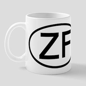 ZF - Initial Oval Mug