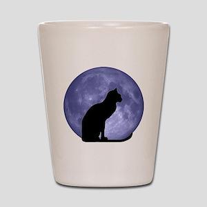 Cat & Moon Shot Glass