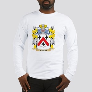 Walsh Family Crest - Coat of A Long Sleeve T-Shirt