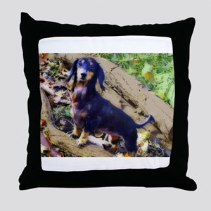 Darling Doxie Throw Pillow