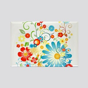 Floral explosion of color Rectangle Magnet