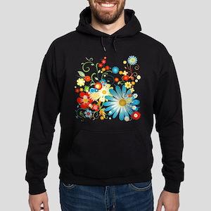 Floral explosion of color Hoodie (dark)