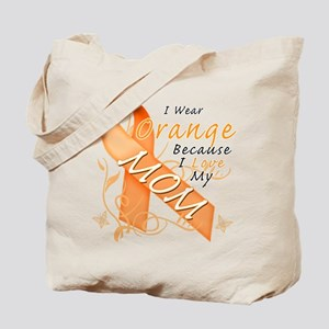 I Wear Orange Because I Love My Mom Tote Bag