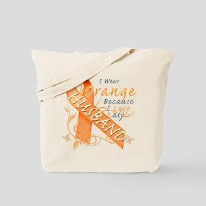 I Wear Orange Because I Love My Husband Tote Bag