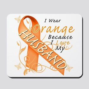I Wear Orange Because I Love My Husband Mousepad