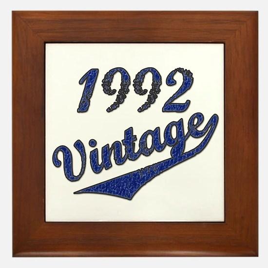 Vintage 1992 Framed Tile