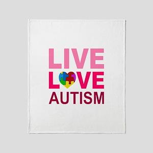 Live Love Autism Throw Blanket