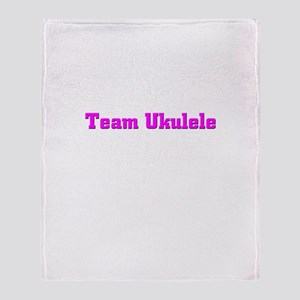Team Ukulele Throw Blanket