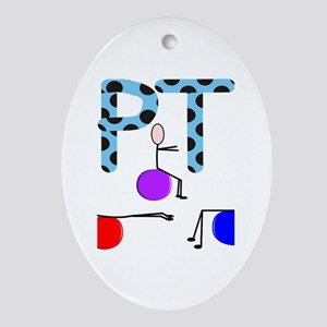 Physical Therapy Ornament (Oval)