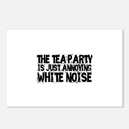 Tea party is white noise Postcards (Package of 8)