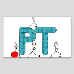 Physical Therapy Sticker (Rectangle)