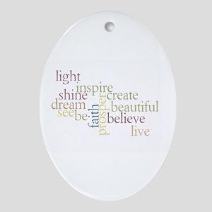 Kindness Matters Ornament (Oval)