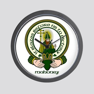 Mahoney Clan Motto Wall Clock
