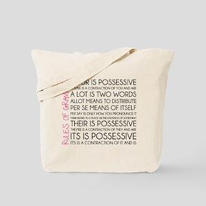 Rules of Grammar Tote Bag