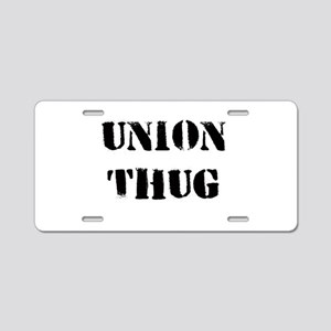 Original Union Thug Aluminum License Plate