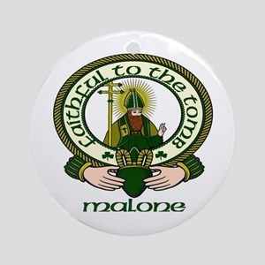 Malone Clan Motto Ornament (Round)
