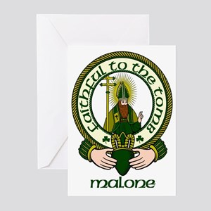 Malone Clan Motto Greeting Cards (Pk of 10)