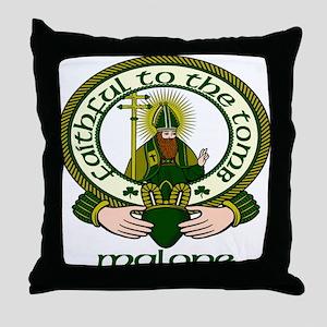 Malone Clan Motto Throw Pillow