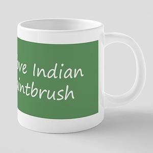 Indian Paintbrush 20 oz Ceramic Mega Mug