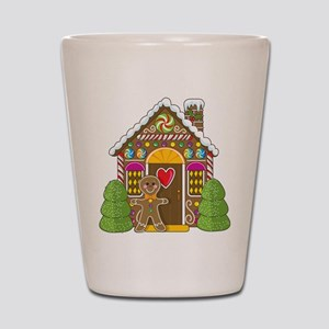 Gingerbread House Shot Glass