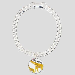 I Love Giraffes Charm Bracelet, One Charm