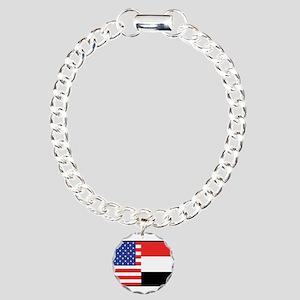 USA/Yemen Charm Bracelet, One Charm
