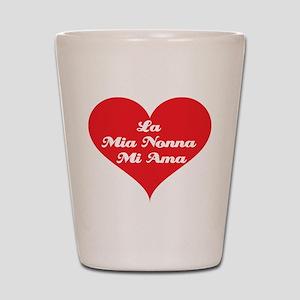 Grandma Loves Me (Italian) Shot Glass