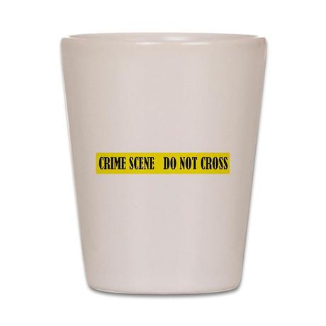 Crime Scene Shot Glass