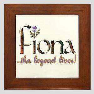 Fiona the Legend Framed Tile
