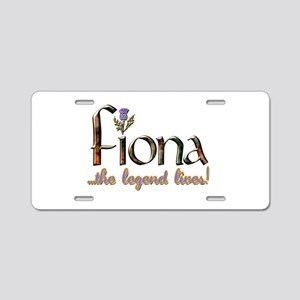 Fiona the Legend Aluminum License Plate