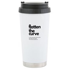 flatten the curve text only Mugs