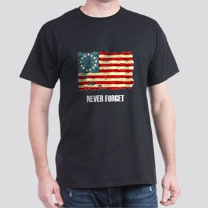 Never Forget Old Glory Dark T-Shirt