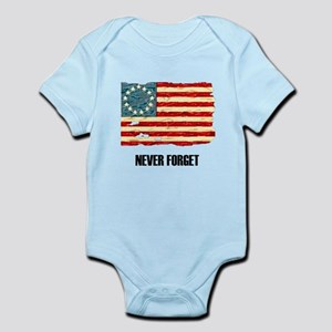Never Forget Old Glory Infant Bodysuit
