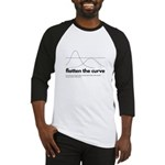 Flatten the curve image and text Baseball Jersey