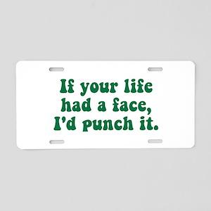 Punch It Aluminum License Plate
