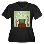 ATV Program Women's Plus Size V-Neck Dark T-Shirt