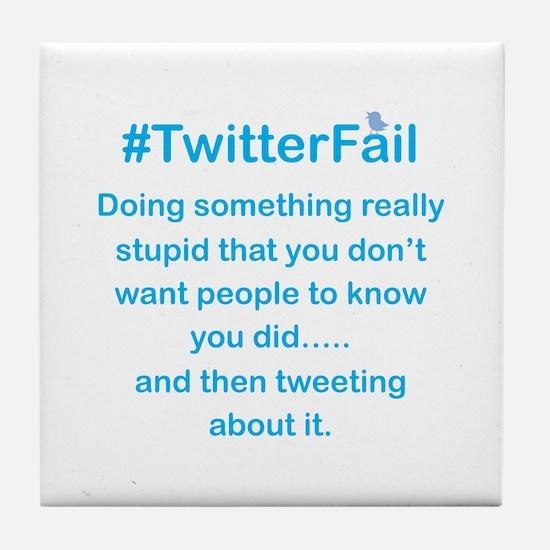 Don't Tweet About it Stupid Tile Coaster