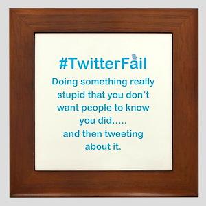 Don't Tweet About it Stupid Framed Tile